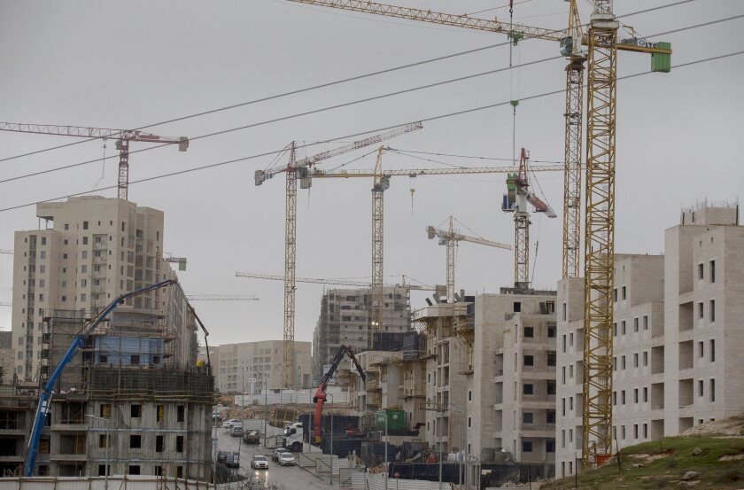 Construction is underway in the Har Homa settlement near the Palestinian East Jerusalem neighborhood of Sur Baher on Dec. 27.