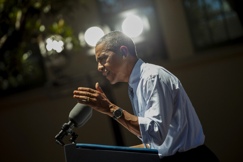 President Obama speaks at Los Angeles Trade-Technical College on July 24.