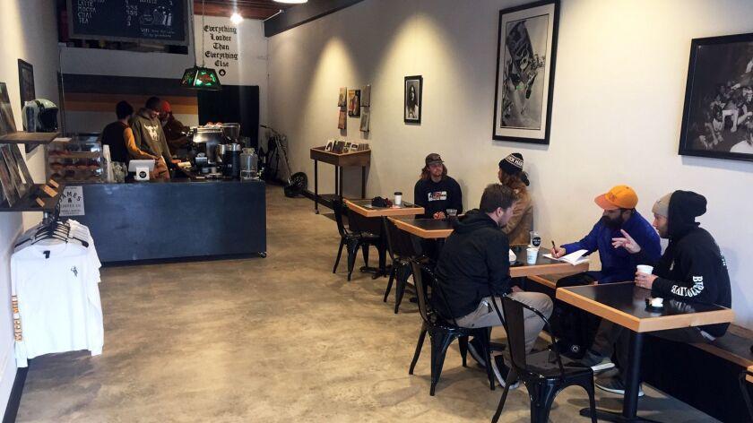 Pro skater Riley Hawk and friends open Oceanside coffee
