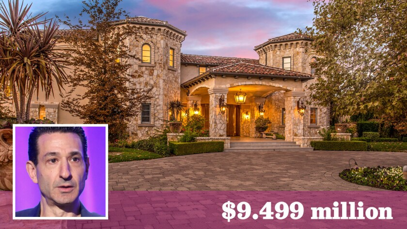 Television producer David Broome is asking $9.499 million for his Calabasas home, which was once occupied by pop star Britney Spears.