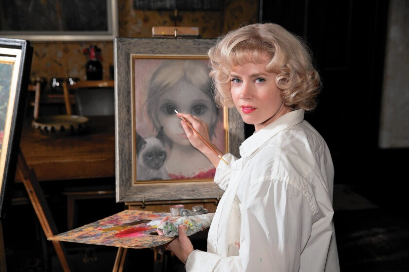 """Margaret Keane (Amy Adams) painted work that her husband claimed credit for creating. And in Tim Burton's """"Big Eyes,"""" as in life, her husband gets to hog the spotlight."""