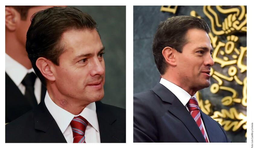 La Presidencia de la República ocultó una herida que el Mandatario Enrique Peña tiene en el lado derecho del cuello.