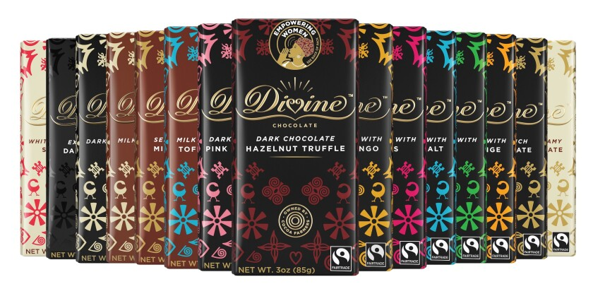 The Everyday Bars collection uses Fairtrade-certified cocoa and offers 15 flavors, including dark, milk and white chocolate.