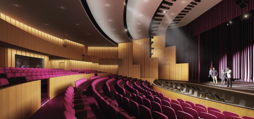 A rendering of UCLA's new Whitney Family Theater in the Freud Playhouse.