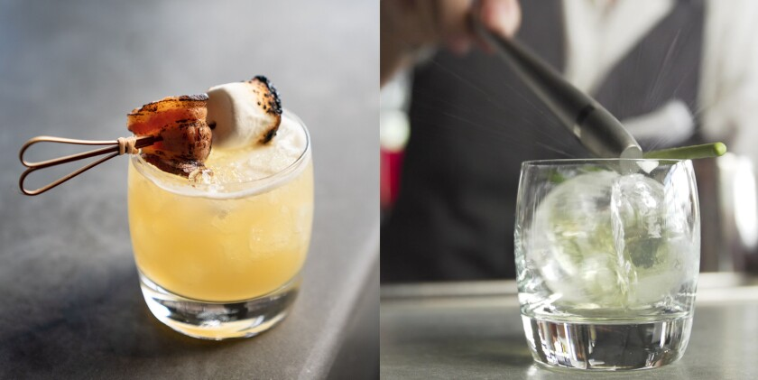 The Fireside and Iced Emerald are two of the winter-inspired craft cocktails at Jamul Casino's Loft 94.