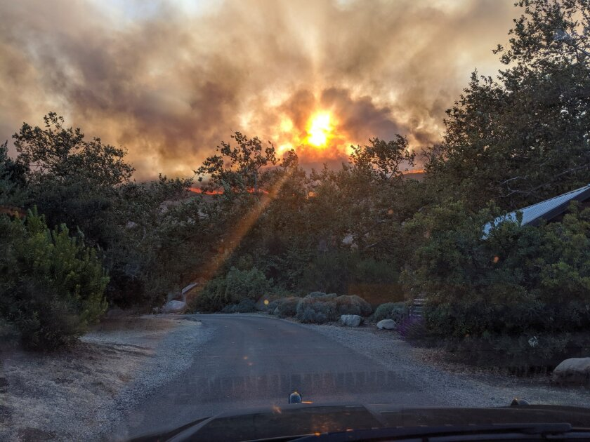 The Real fire broke out Thursday afternoon near the El Capitan campground in Santa Barbara County.