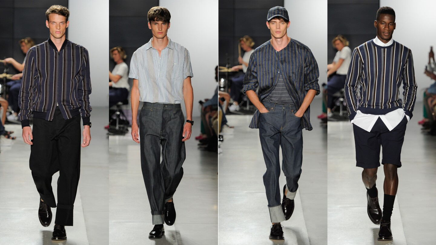 Todd Snyder's Encounter Culture collection keyed into the stripes trend that was a through line of the spring/summer 2018 collections shown during NYFW: Men's July 10-14 in New York City.