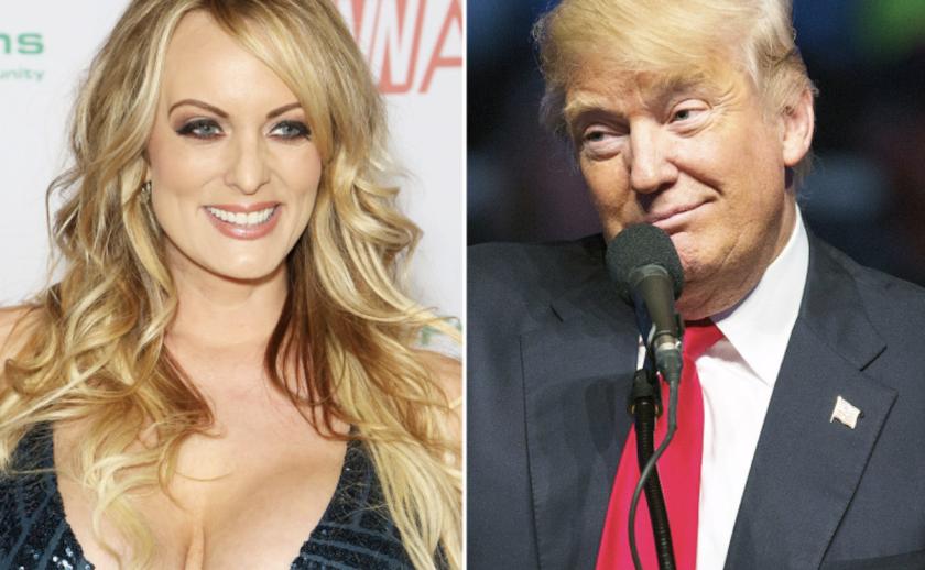 La actriz porno Stormy Daniels y el presidente de EEUU, Donald Trump.