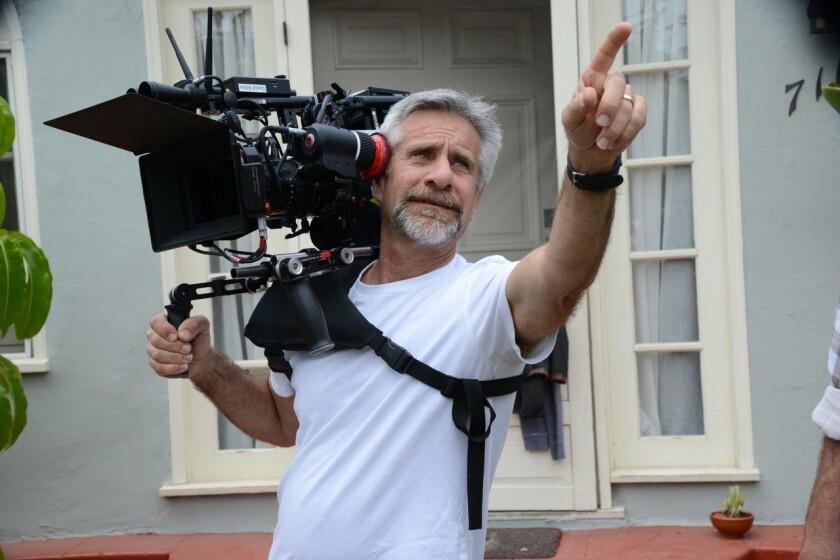 Lawrence Karman on set.