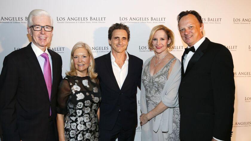 From left, former Gov. Gray Davis, Sharon Davis, producer Lawrence Bender and Los Angeles Ballet art