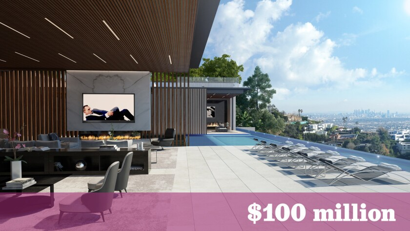 The planned $100-million development in Beverly Hills will include a 24,500-square-foot home, a 140-foot swimming pool and a lower-level lounge.