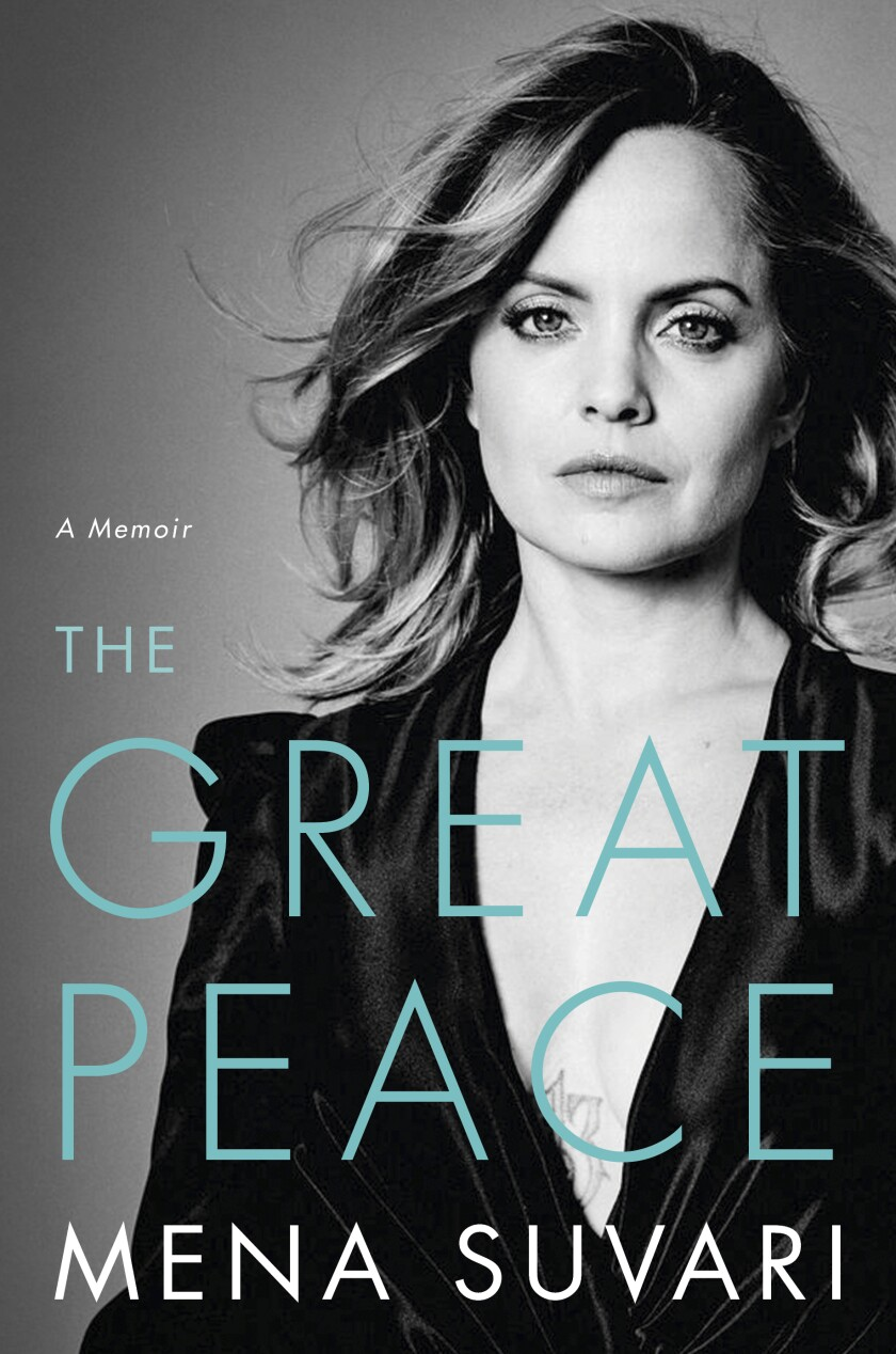 """This cover image provided by Hachette Books shows """"The Great Peace"""" by Mena Suvari. (Hatchette Books via AP)"""