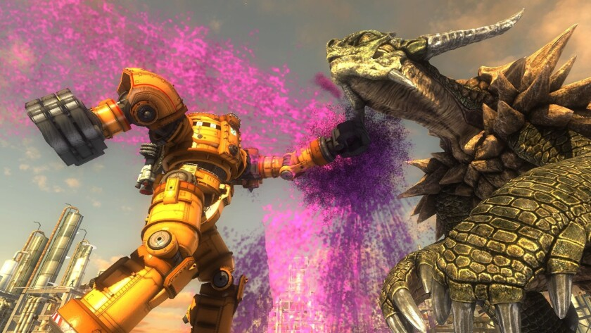 "A scene from ""Earth Defense Force 5."""
