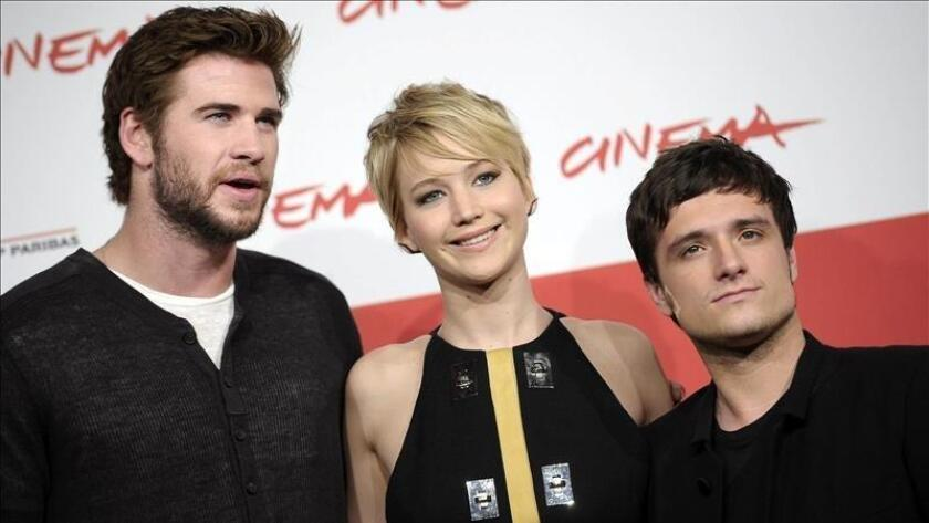 Liam Helmsworth, Jennifer Lawrence and Josh Hutcherson (/ EFE/Archivo)