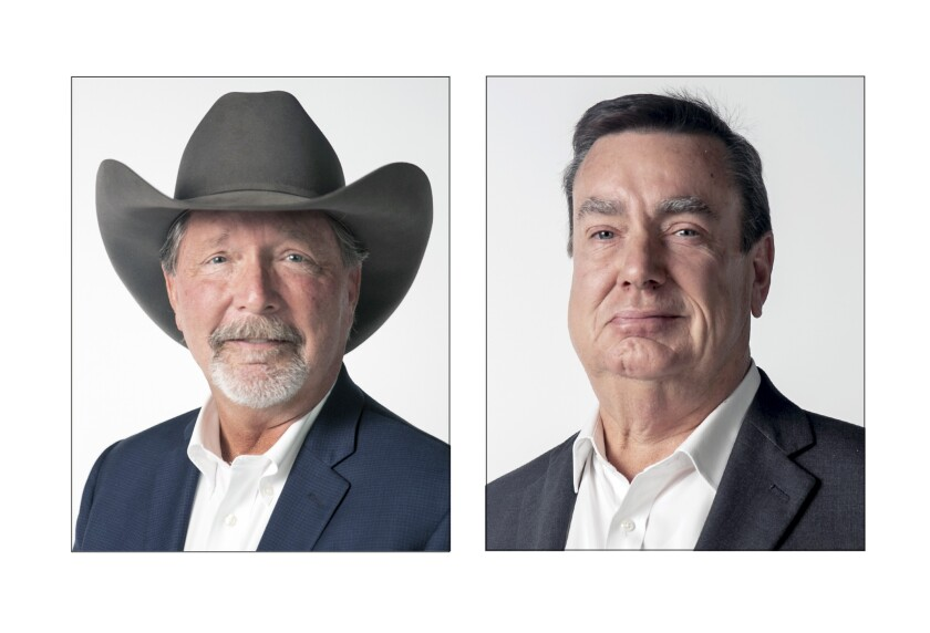 Steve Vaus and Joel Anderson are vying for the District 2 supervisor seat.