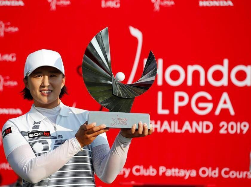 La surcoreana Amy Yang se adjudicó la victoria del torneo de la LPGA de Tailandia que se disputa en Chonburi. EFE