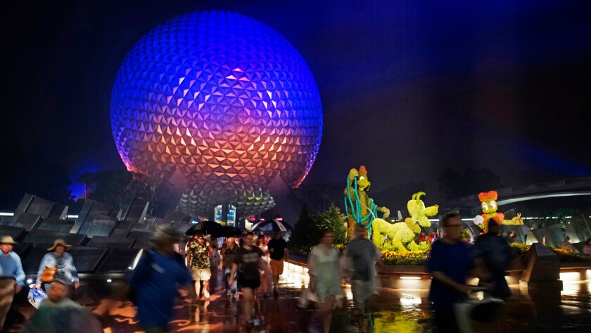 Disney and its Epcot center draw tourists from all over the globe.