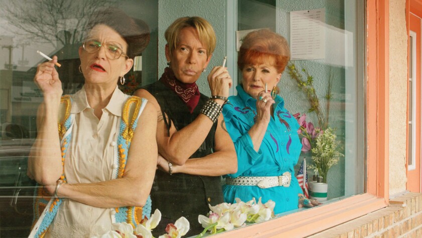 """Dale Dickey, from left, Scott Presley and Ann Walker in the movie """"A Very Sordid Wedding."""""""