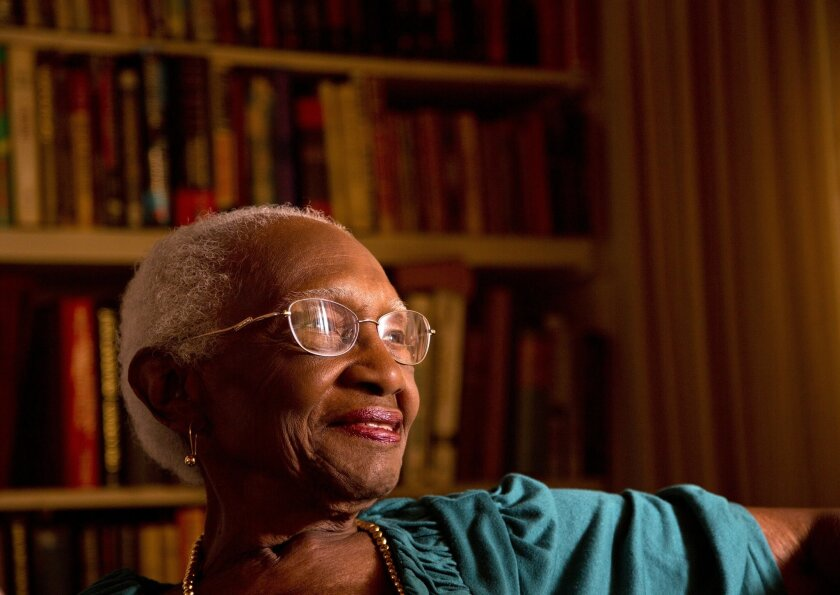 Jewell Hooper, 94, is a Southeast San Diego activist and is being awarded the Dr. Martin Luther King Human Dignity Award.