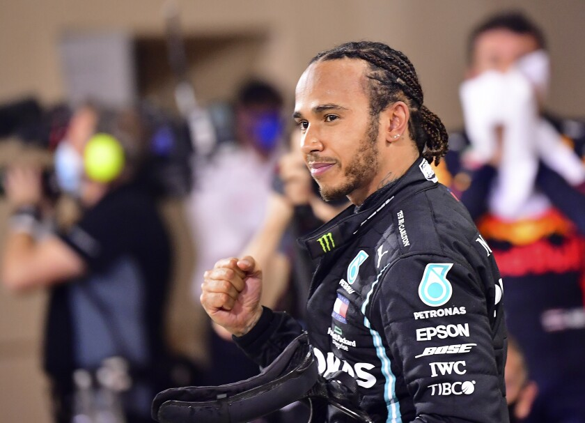 ARCHIVO - En esta foto del domingo 29 de noviembre de 2020, Lewis Hamilton