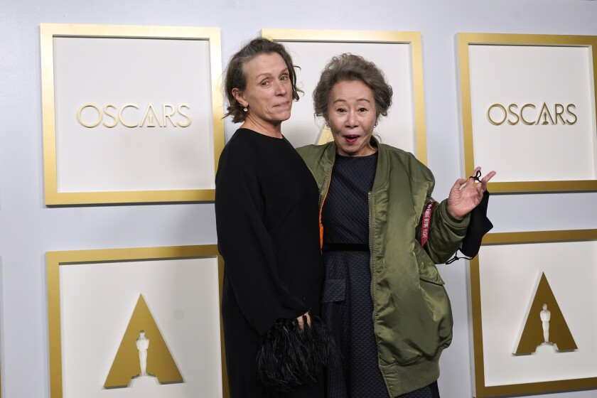 Frances McDormand and Yuh-Jung Youn