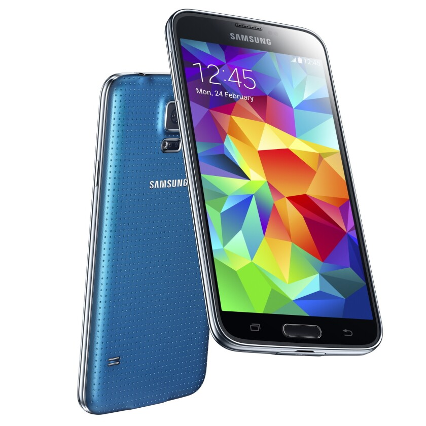 Samsung announced the Galaxy S5 Monday, saying the device will go on sale in the U.S. in April.