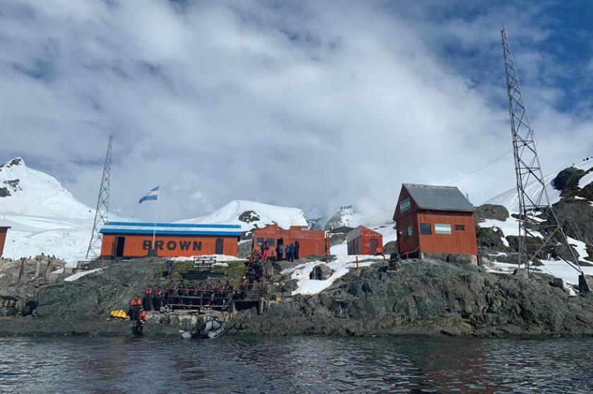 General view of Argentina's Brown Station at Paradise Bay, Antarctica, on Jan. 13, 2019. EFE-EPA/Diana Marcela Tinjaca