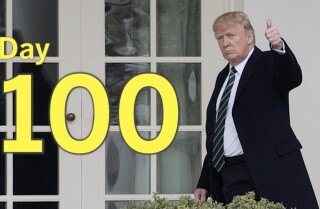 Here's what happened during Trump's 100 days
