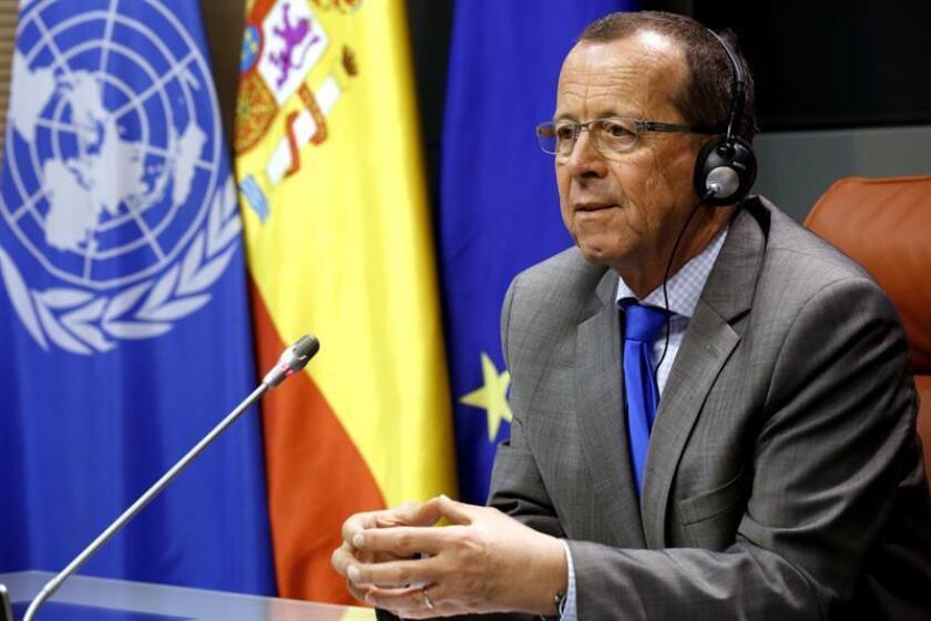 Naciones Unidas prorrogó hoy su misión en Libia (UNSMIL) con el encargo de que apoye el plan de paz impulsado por la organización y los trabajos del Gobierno de unidad que respalda. EFE/ARCHIVO