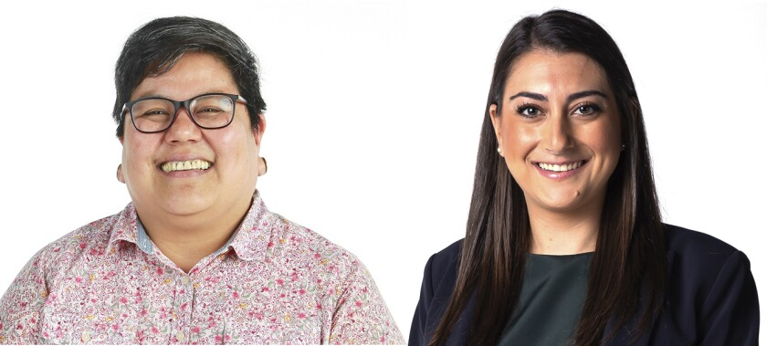 Georgette Gomez and Sara Jacobs are candidates for the 53rd Congressional District.