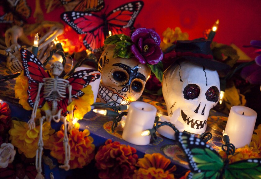 Part of the alter that took Marty Becerra of South Park a week to create, to honor members of her family that have passed away, was on display at the 18th annual Dia De Los Muertos (Day of the Dead) celebration at the Sherman Heights Community Center.