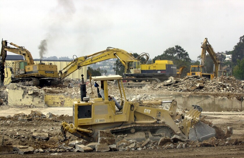 Demolition at the former NTC site