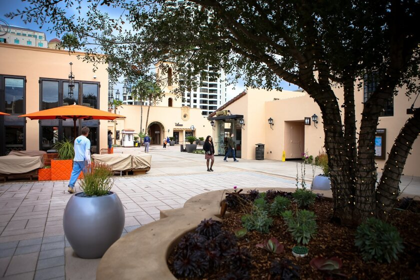 New Headquarters at Seaport District shopping mall downtown San Diego.