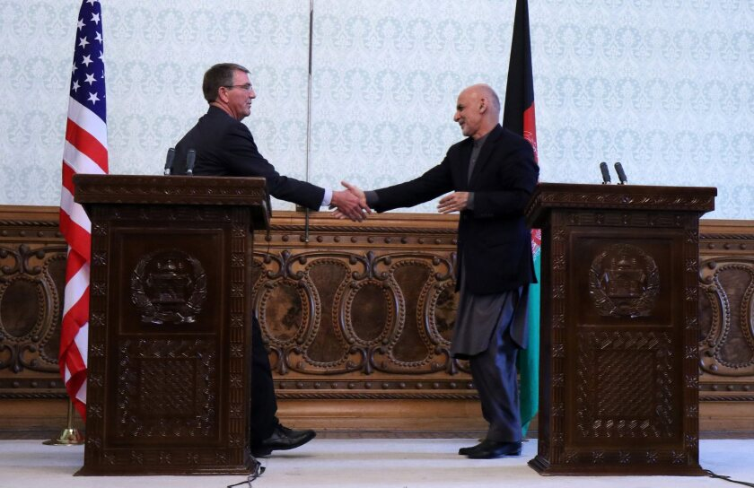 US Defense Secretary Ash Carter visits Kabul