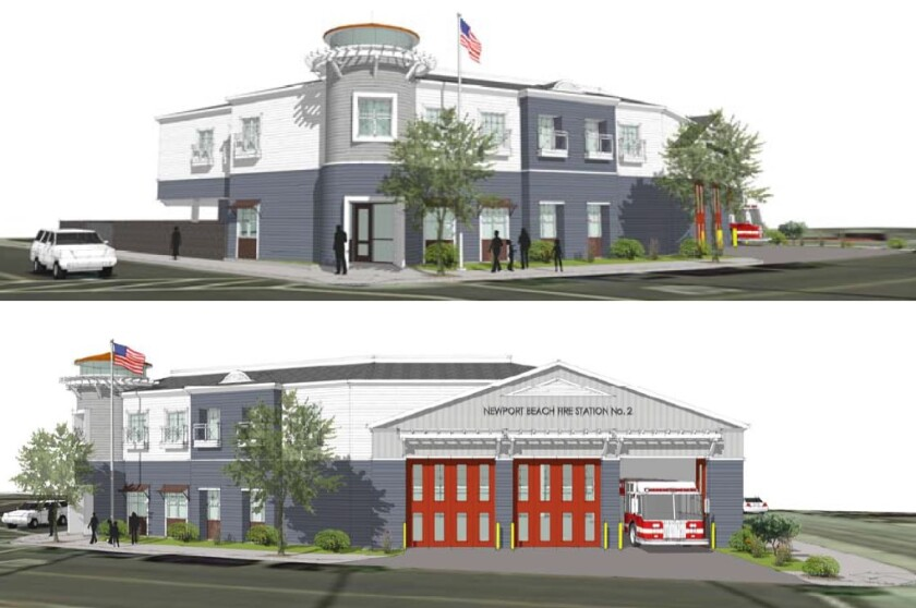 "The ""Lido"" architectural style was the exterior option the Newport Beach City Council chose among four considered for a new fire station at 2807 Newport Blvd."
