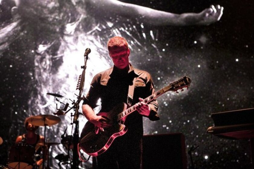 Josh Homme of Queens of the Stone Age. The band played the Gibson Amphitheater on Saturday night.