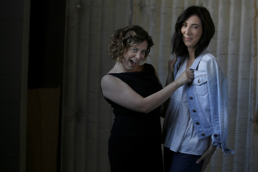 NORTH HOLLYWOOD, CA - APRIL 18, 2016: Portrait of My Crazy Ex-Girlfriend series creators Rachel Bloo