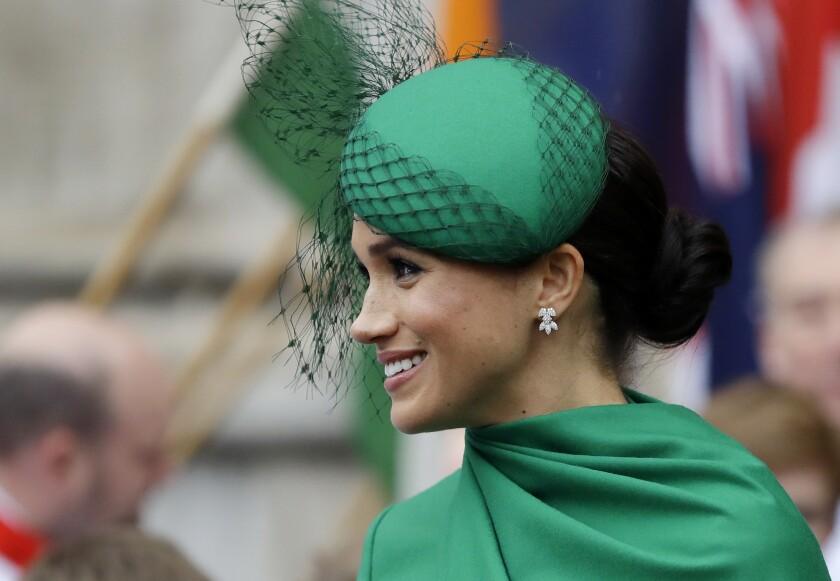 En esta foto del 9 de marzo de 2020, Meghan, la duquesa de Sussex,
