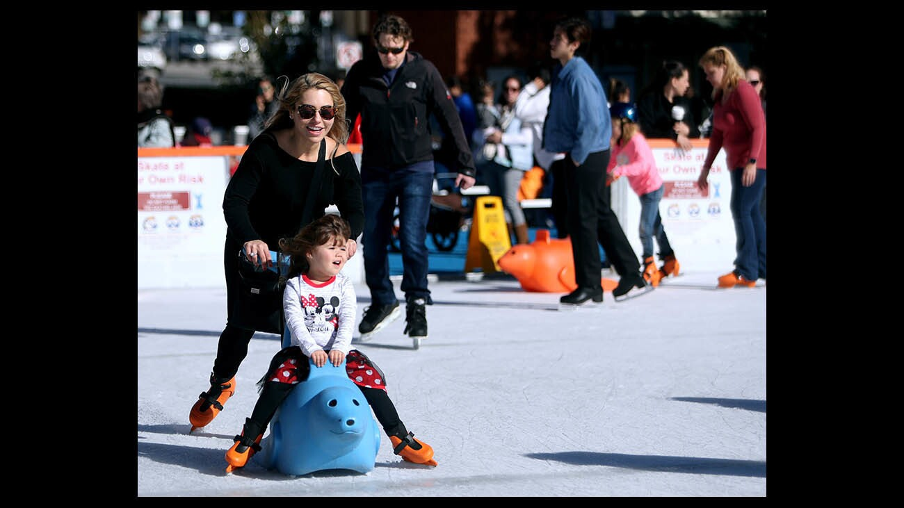 Photo Gallery: Annual Ice America ice skating rink opens to public in Burbank