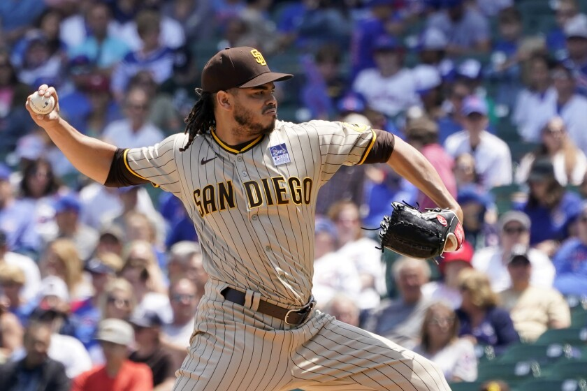 Padres starter Dinelson Lamet pitches against the Chicago Cubs