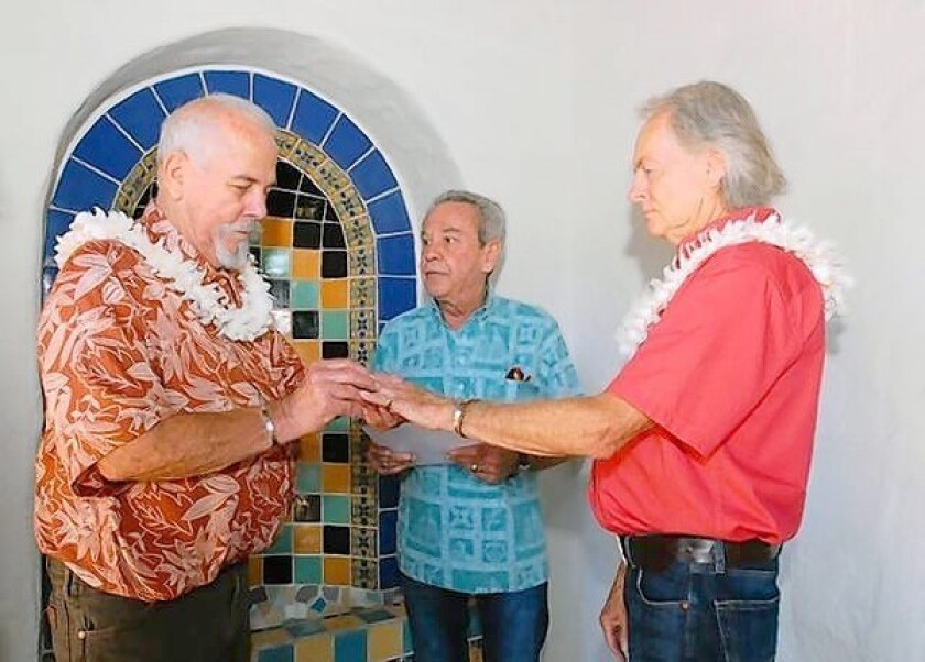 Same-sex couple weds after 51 years together