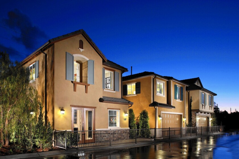 A combined Standard Pacific and Ryland Group would own or control about 74,000 home sites. Above, Standard Pacific homes in San Pedro.