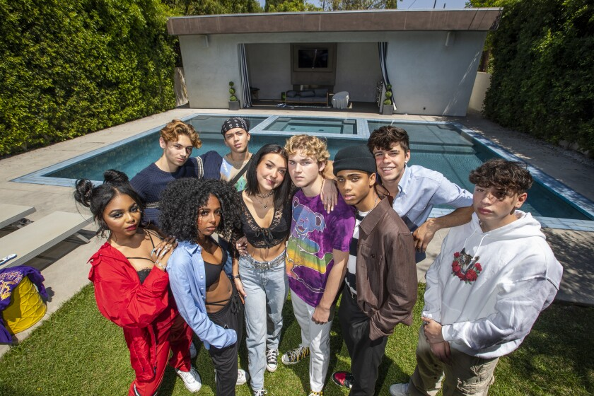 TikTok influencers at the Vault House in West Hollywood where they live.