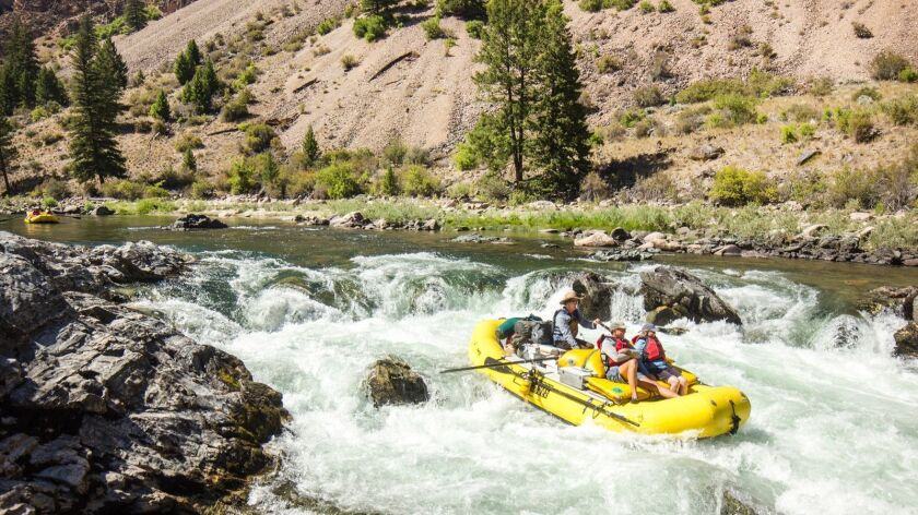 Six-day rafting trips run the Middle Fork of the Salmon River in Idaho.