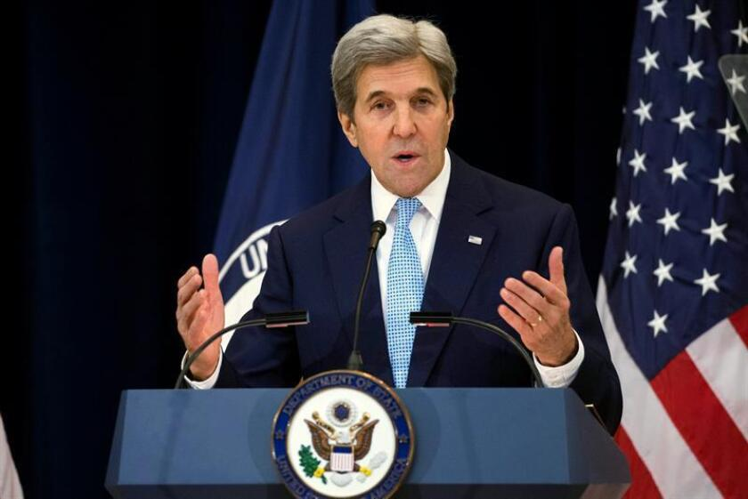 """El secretario de Estado, John Kerry, recordó hoy que México no pagará """"voluntariamente"""" por el muro que el presidente electo, Donald Trump, pretende construir en la frontera sur del país. EFE/ARCHIVO"""