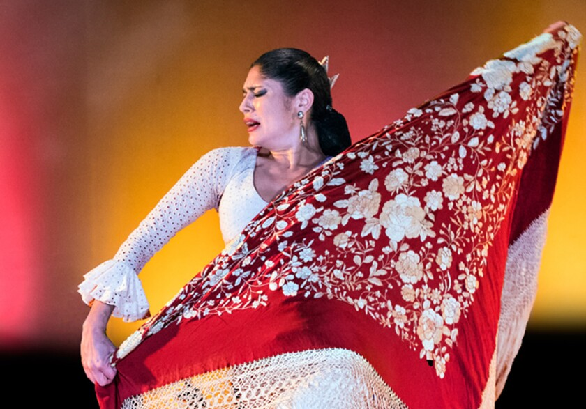 """Lakshmi """"La Chimi"""" Basile is one of the featured dancers in a new edition of Forever Flamenco."""