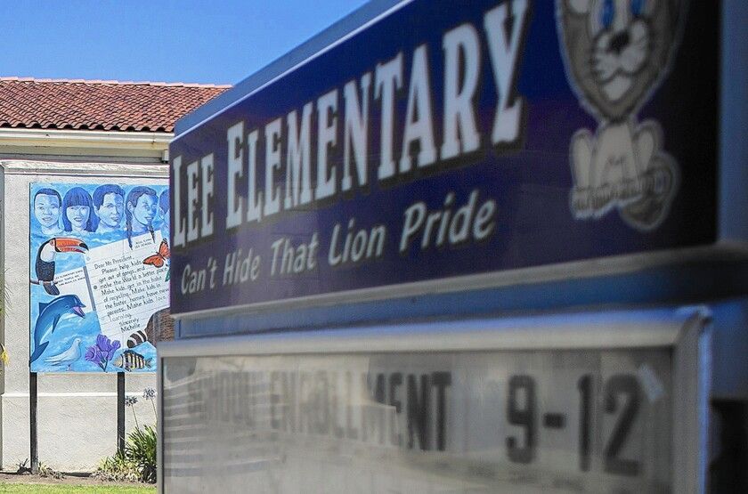 Robert E. Lee elementary school in Long Beach is named for the Confederate general. A district spokesman has said that civil rights leaders have asked that the school's name be changed.
