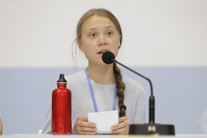 Spain Climate Summit Thunberg