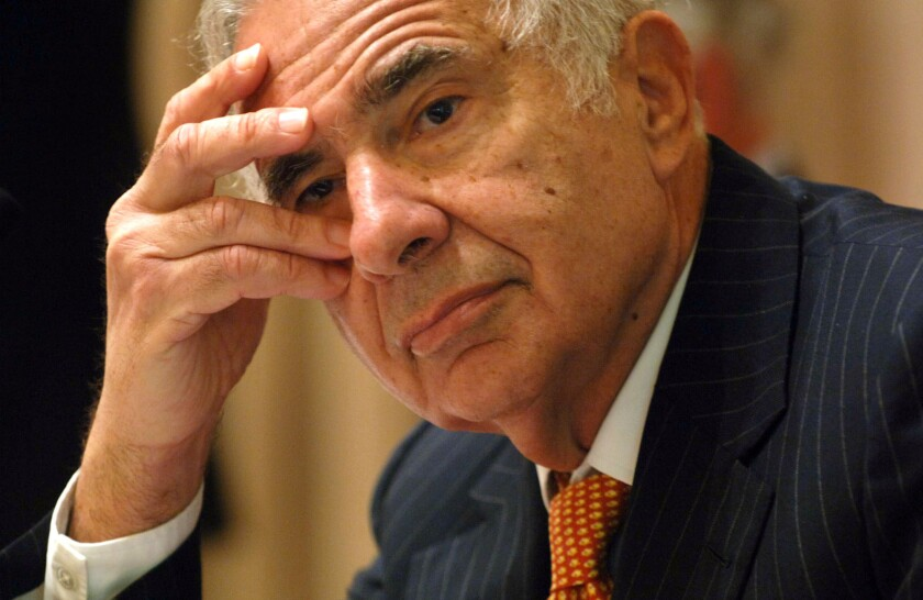 Carl Icahn, shown in 2006, wants Apple to increase its stock buyback program.