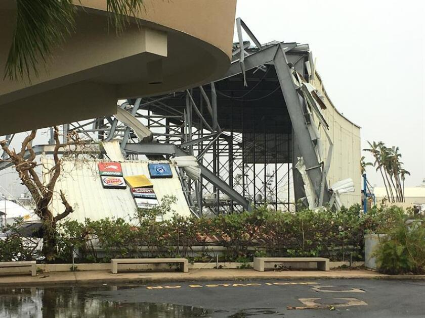 Vista de los daños causados tras el paso del huracán María en San Juan (Puerto Rico). EFE/ARCHIVO
